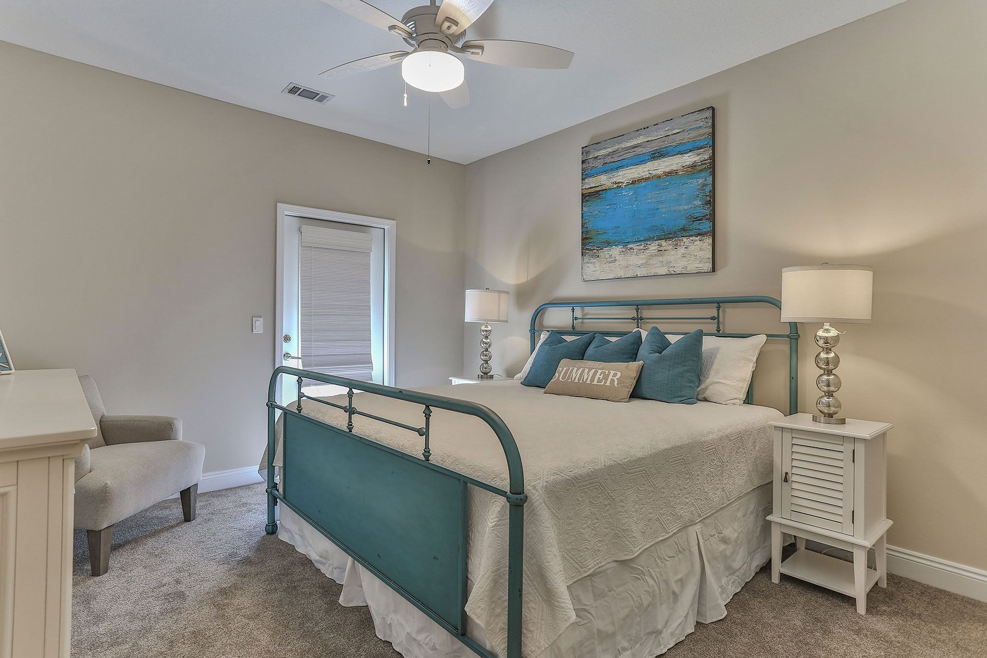 Miller's Landing model home bedroom