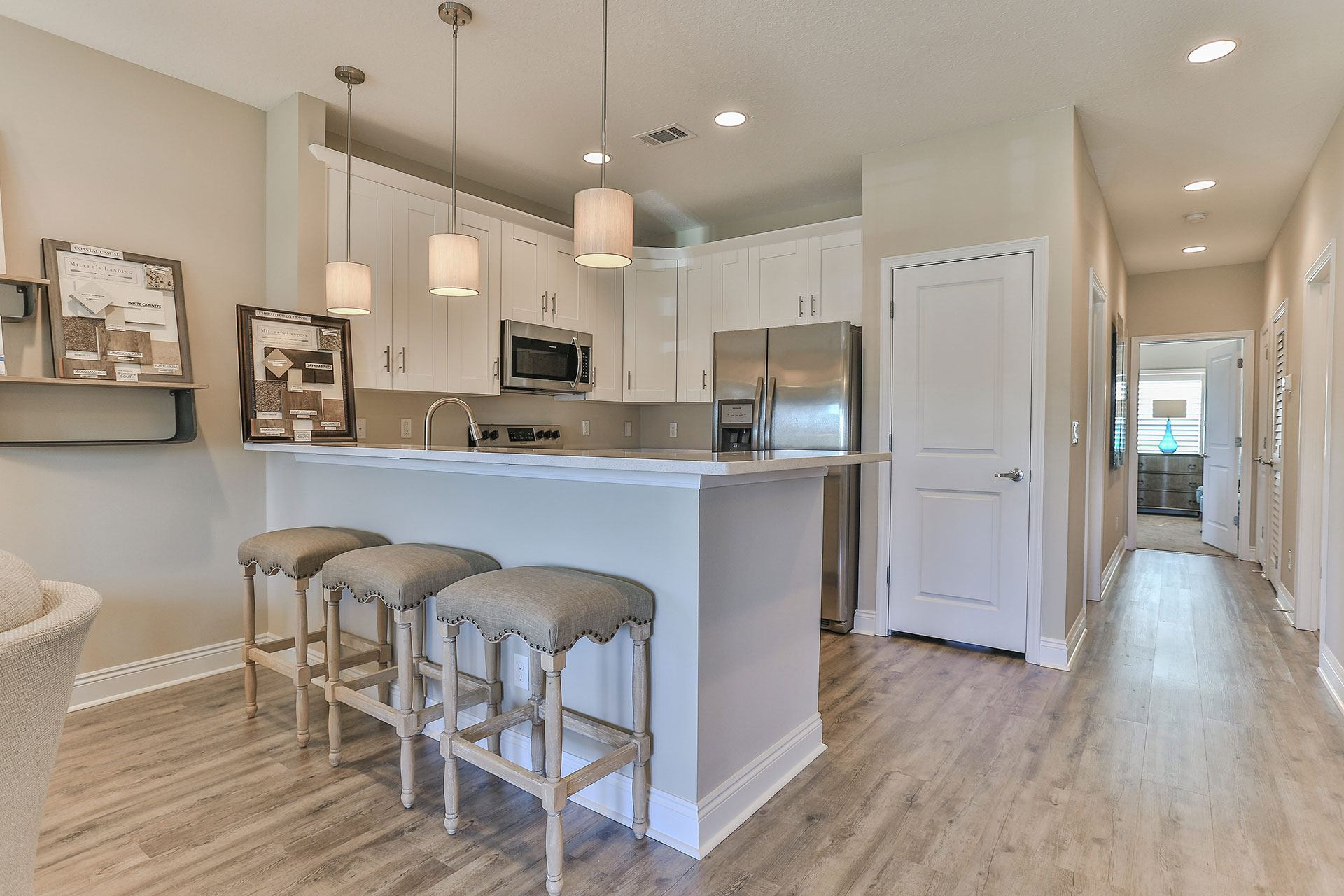 Miller's Landing model home kitchen