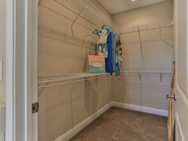 Miller's Landing model home walk-in closet
