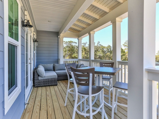 A porch at Miller's Landing Building B
